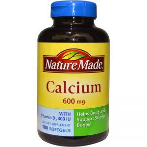 Nature Made, Calcium with Vitamin D3 400 IU, 600 mg, 100 Softgels