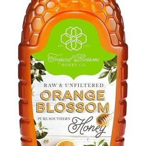 Tropical Blossom Honey, Orange Blossom, Raw & Unfiltered, 16 oz (0.5 kg)