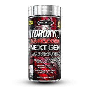 MuscleTech, Hydroxycut Hardcore Next Gen, Weight Loss, 100 Caps (New White Capsules)