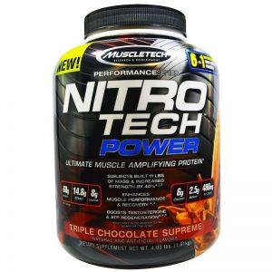 Muscletech, Nitro Tech, Power, 4lbs (1.8 kg)