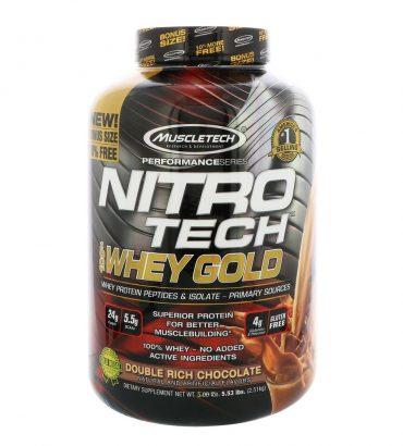 Muscletech, Nitro Tech, 100% Whey Gold, 5.5 lbs (2.5 kg)