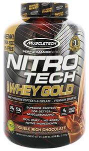 Muscletech, Nitro Tech, 100% Whey Gold