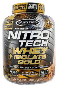 Muscletech, Nitro Tech, Whey Plus Isolate Gold