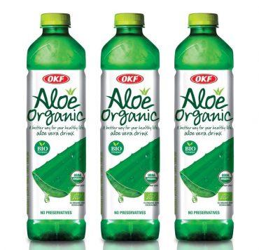 OKF, Aloe Vera Organic, 1.5 Litre (Pack of 3 - 4.5 L)