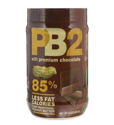 Bell Plantation, PB2 Powdered Peanut Butter with Premium Chocolate, 16 oz (453.6 g)