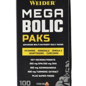 Weider, Mega Bolic Paks, 100 caps